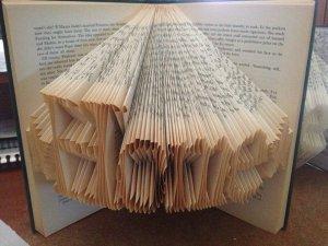 folded book art home